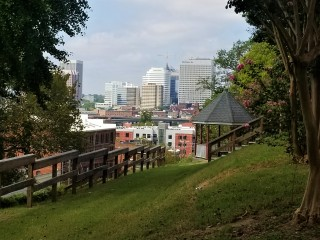View of Downtown Richmond from rear of school. Photo: Tonya Rice